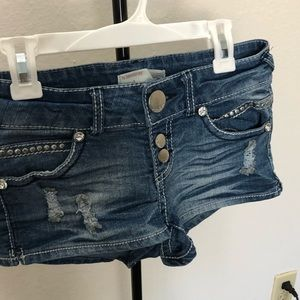 USED No boundaries shortie shorts